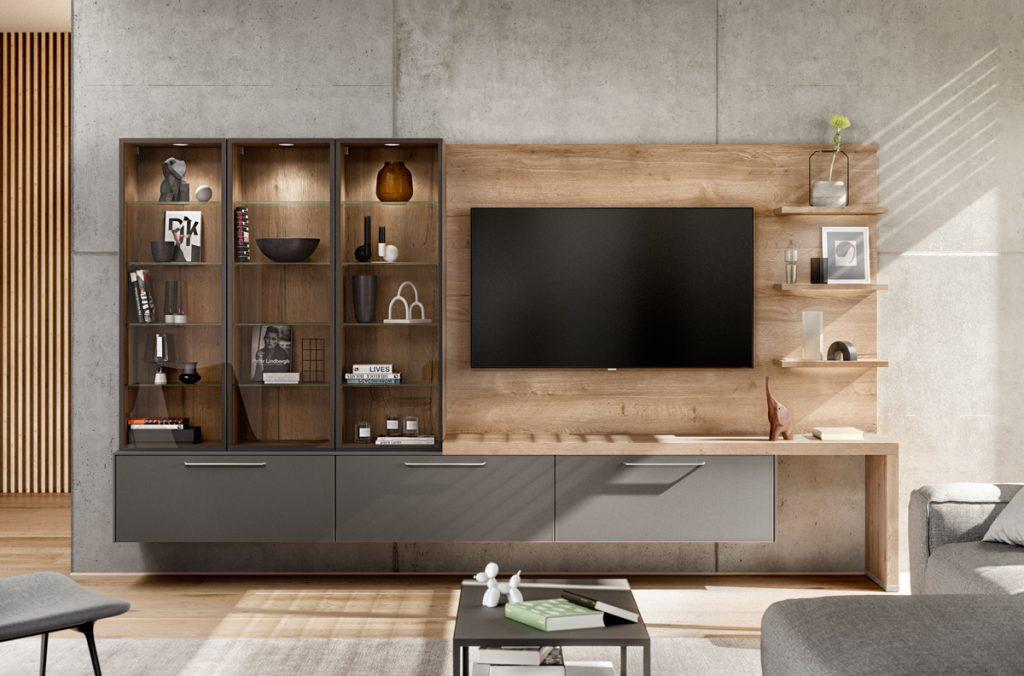 moderne Wohnwand mit wow-effekt