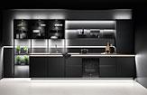 Küche Easytouch - Dunkles Grafit, feine Aluminium-Rahmen und edles Glas - Küchenland Auer