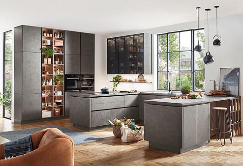 Küche Riva - Moderne Architektur und natürlich wirkende Oberflächen - Küchenland Auer