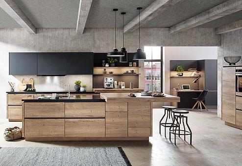 Küche Structura: Farben aus der Natur und naturbelassene Holzoptiken perfekt kombiniert - Küchenland Auer