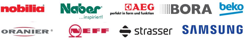 Nobilia, Systemceram, Naber, AEG, Bora, beko, Oranier, NEFF, Strasser, Samsung